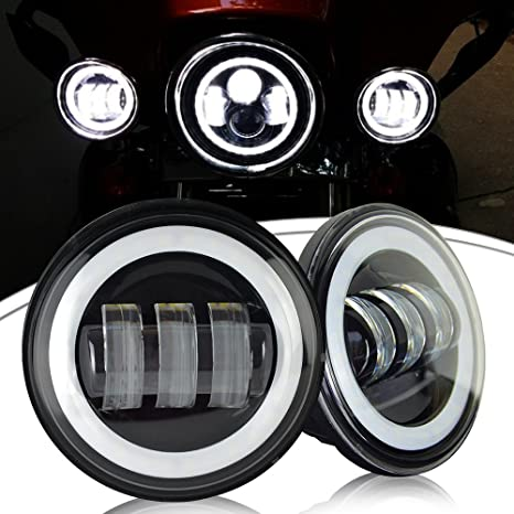 71BYelxFHSL._SX466_ amazon com ausi led fog lights passing lamps 4 5inch round