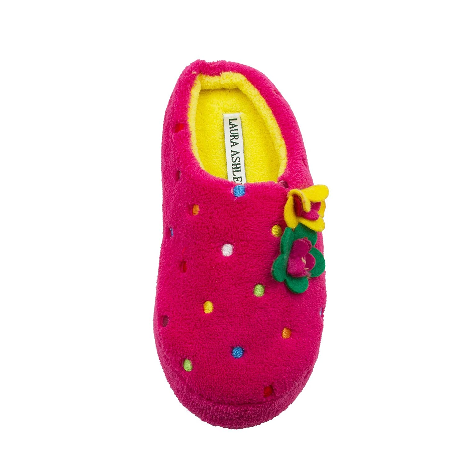 Laura Ashley Little Girls Multi Colored Embroidered Dot Terry Clog (See More Colors Sizes)