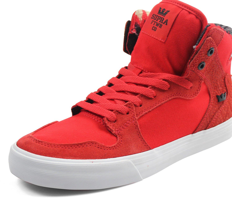 Supra Vaider LC Sneaker B01N29TLL0 Medium / 10.5 C/D US Women / 9 D(M) US Men|Red-white