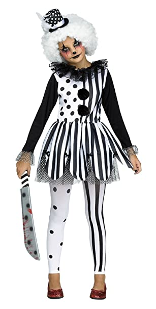 Fun World Big Girlu0027s Killer Clown Girls Childrenu0027s Costume, Multicolor,  Large 121512L
