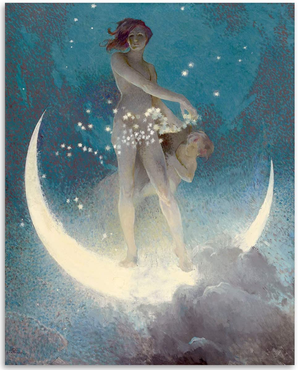 Spring Scattering Stars by Edwin Blashfield - 11x14 Unframed Art Print - Makes a Great Vintage Décor for Art Deco and Painting Fans Under $15