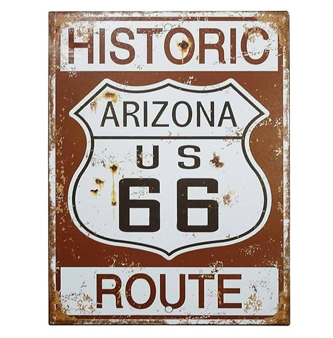zeitzone Cartel de Chapa de Ruta 66 Históricos Nostalgie ...