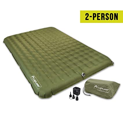 2b3940c685dde Amazon.com  Lightspeed Outdoors 2 Person PVC-Free Air Bed Mattress for  Camping and Travel  Sports   Outdoors