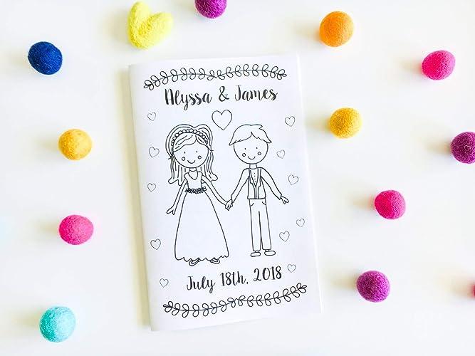 Amazon Com Personalized Wedding Activity Book Wedding Coloring