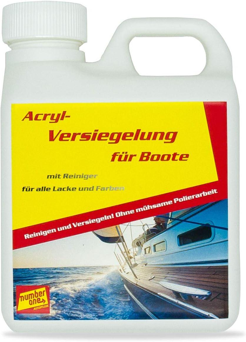 Number One Bootpolitur Acrylversiegelung Für Boote Beige 1 Kg Sport Freizeit