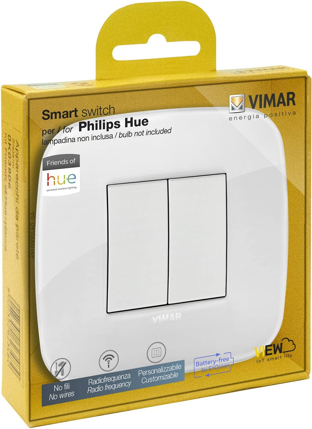 VIMAR 0K03906.06 Arké Roud Kit Interrupteur sans Fil en radiofréquence Philips Friends...
