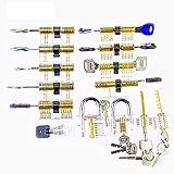 Practice Lock Set,Farway Lock Opener Kit Stainless Steel Lock 14pcs for Locksmith Tool