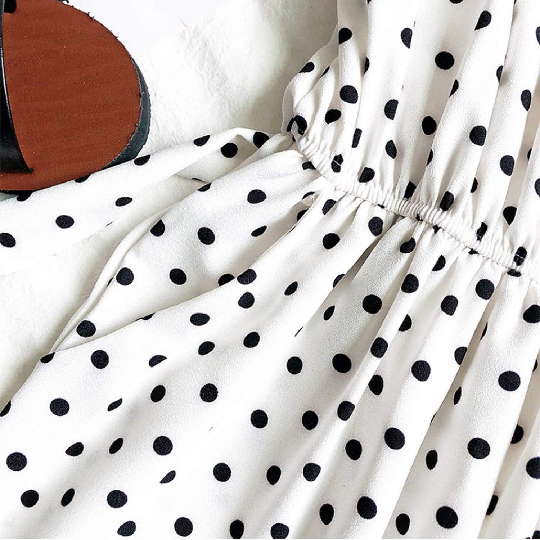 Aolosion Fashion Casual Jumpsuit Rompers Women Vintage Polka Dot Print Bandage Bodysuit Summer Wide Leg Pants 21827