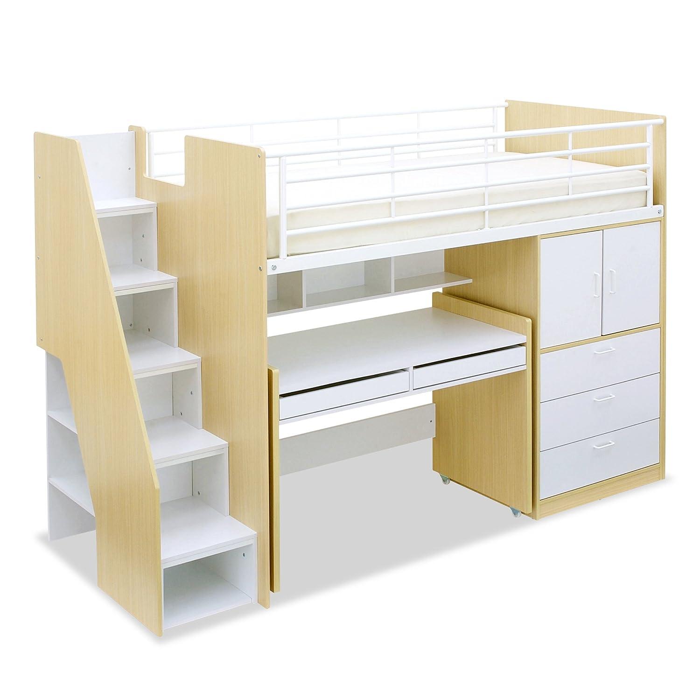 階段付き ロフト システムベッド massa2