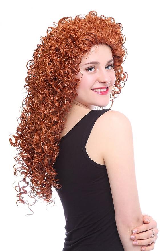 Nuoqi - Anime valiente Merida Cosplay peluca fiesta de Halloween pelo pelucas: Amazon.es: Belleza