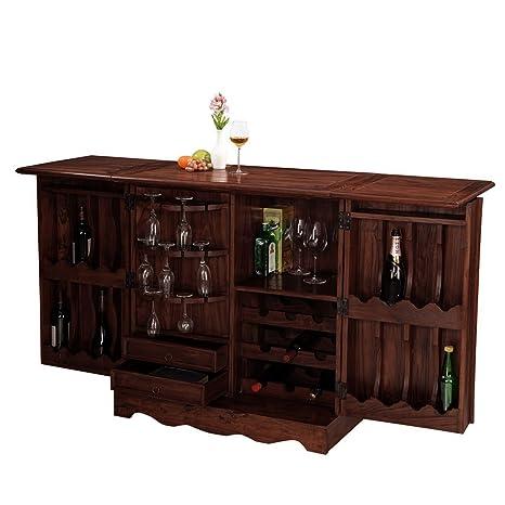 Inhouz INHZ0855(M) Bar Cabinet (Brown)