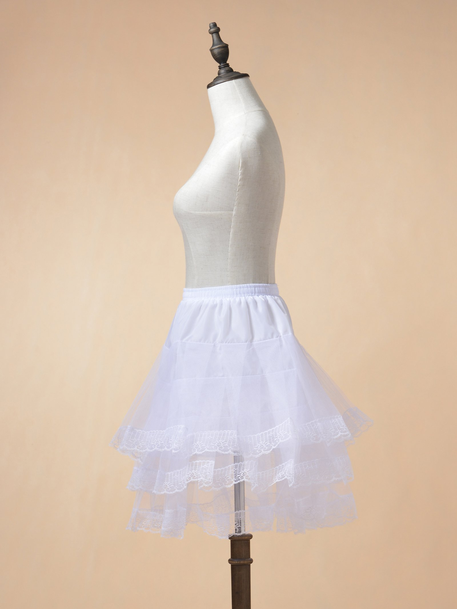 Remedios Kids Mini White Petticoat Flower Girl Wedding Underskirt Cocktail Dress Crinoline Slip White by Remedios (Image #4)