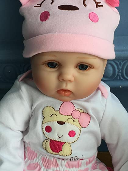 Minidiva Reborn Baby Dolls 22 inch,Quality Realistic Handmade Babies Dolls Girls Soft Vinyl Silicone Lifelike Kids Gifts / Toys Age 3+, EN71 Certification A lifelike so truly real baby doll