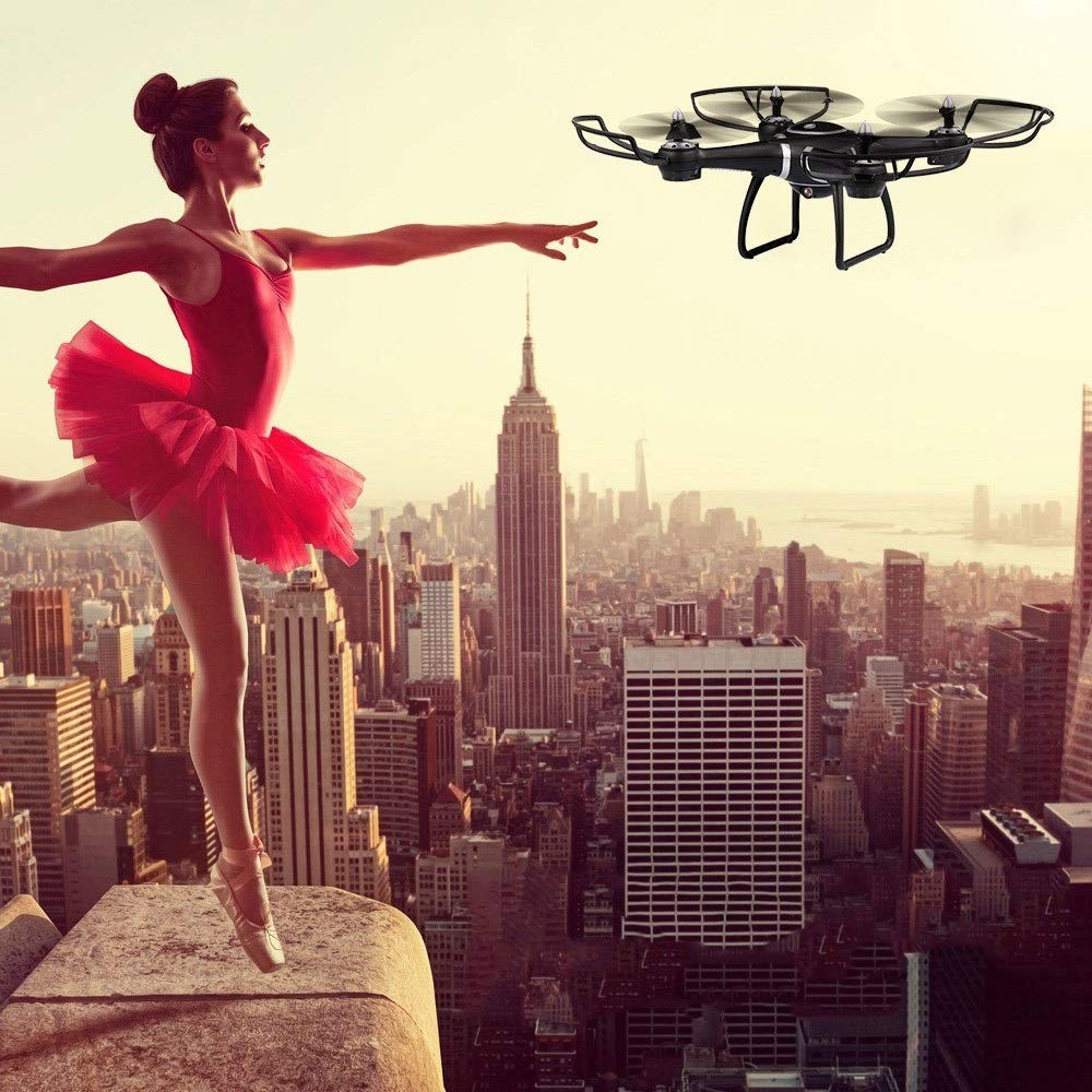 1 YuanChengKeji Vierachsige Drohne S7W 720P HD Kamera WiFi FPV Drohne Höhe Halten Sie eine Taste Rückgabe G-Sensor RC Quadcopter Vierachsige UAV-Teile (Größe   1)