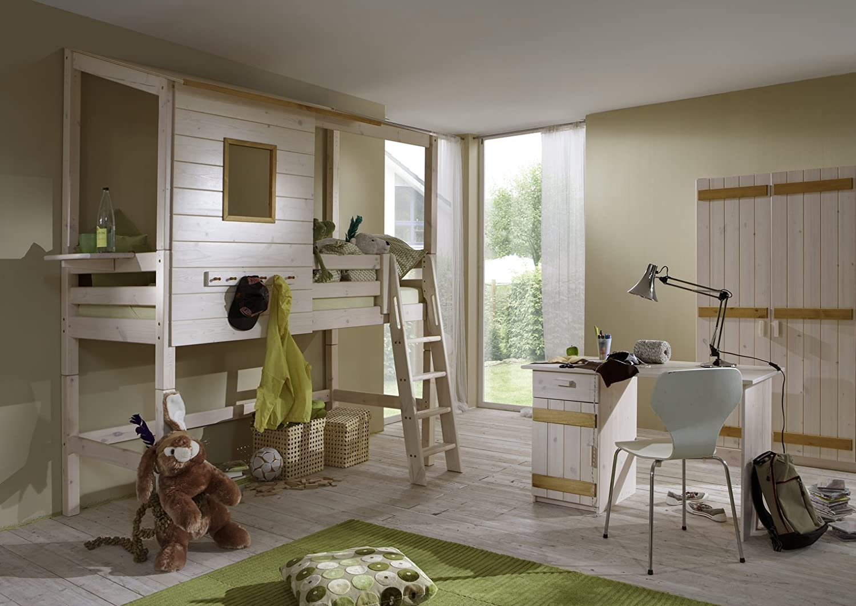 Kinderzimmer Baumhaus Baumhausbett Bett Baumhauszimmer 1 Massivholz ...