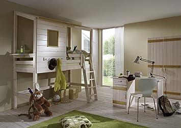 Kinderbett baumhaus  Kinderzimmer Baumhaus Baumhausbett Bett Baumhauszimmer 1 ...