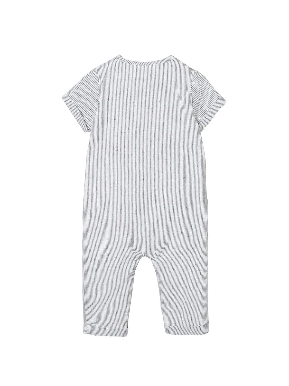 VERTBAUDET Mono a rayas de lino para beb/é ni/ño Azul oscuro a rayas 24M-86CM