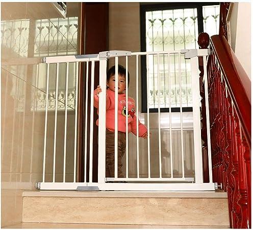 HONGAN Puerta De Bebé Escalera For Bebés Barandilla De Protección Resistente A Roturas Puerta For Bebés Montaje A Presión Puerta For Aislamiento De Vallas For Niños Cerradura Doble Cierre Automático: Amazon.es: Hogar