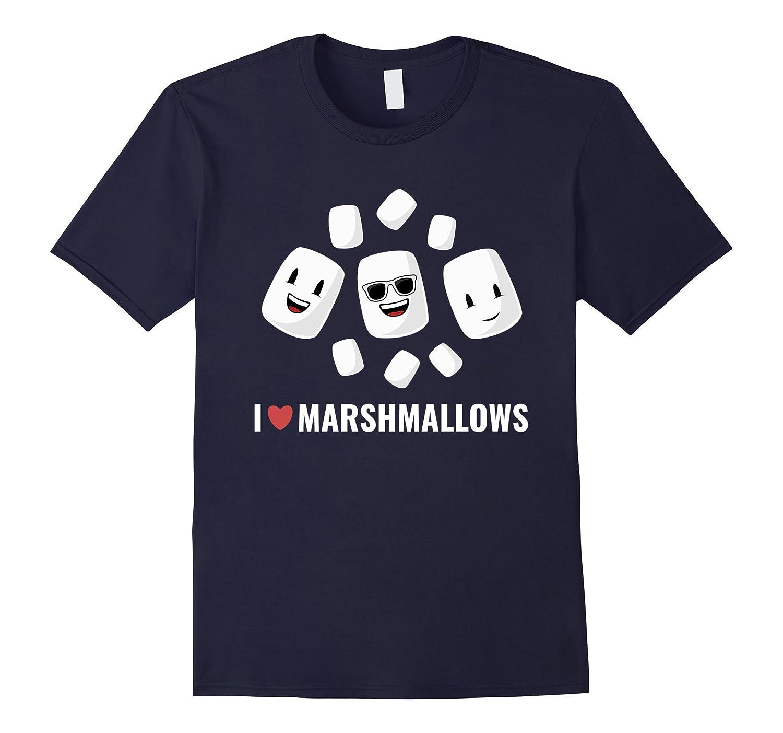 I Love Marshmallows T-shirt Cute Gift for Marshmallow Lovers-Loveshirt