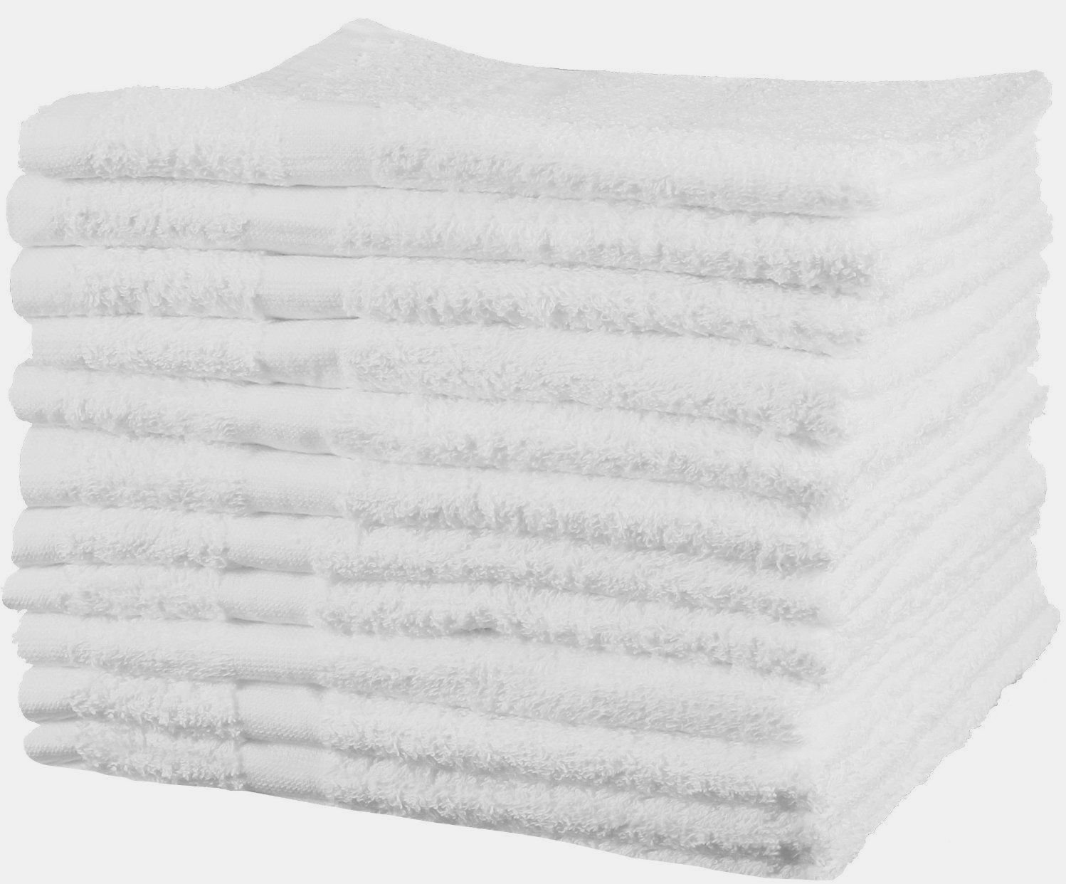 GHP 36-Pcs 24''x50'' Bright White Absorbent Commercial Grade Cotton Hotel Bath Towels