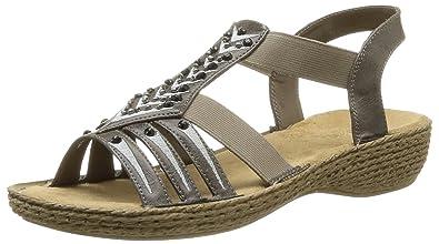 Rieker brown mix shoes / sandals uk 5 / eur 38