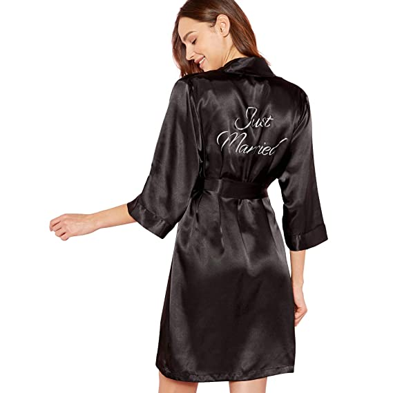 2c131e0242 Debenhams The Collection Womens Black  Just Married  Dressing Gown 16 ...