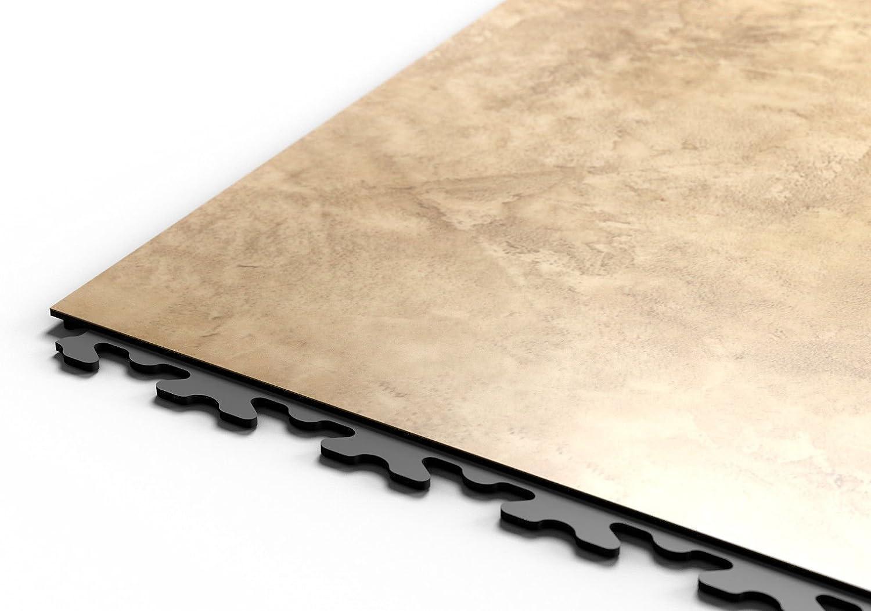 Fortelock PVC-Vinyl Bodenfliese Home Decor 2110 Echtholz Imitat