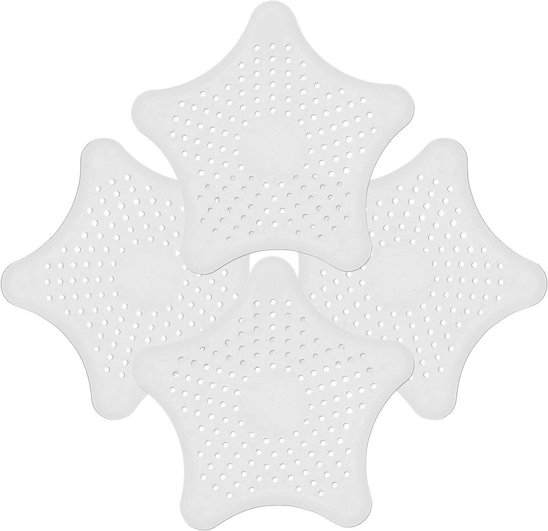 in Silicone e Senza BPA Colore Bianco Doccia e Vasca da Bagno Oishii Set da 4 Filtri per Lavandino da Bagno e Cucina