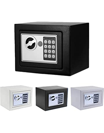 Security Safe, Fireproof Lock Box with Digital Lock Wall Wall-Anchoring Safe for Jewelry