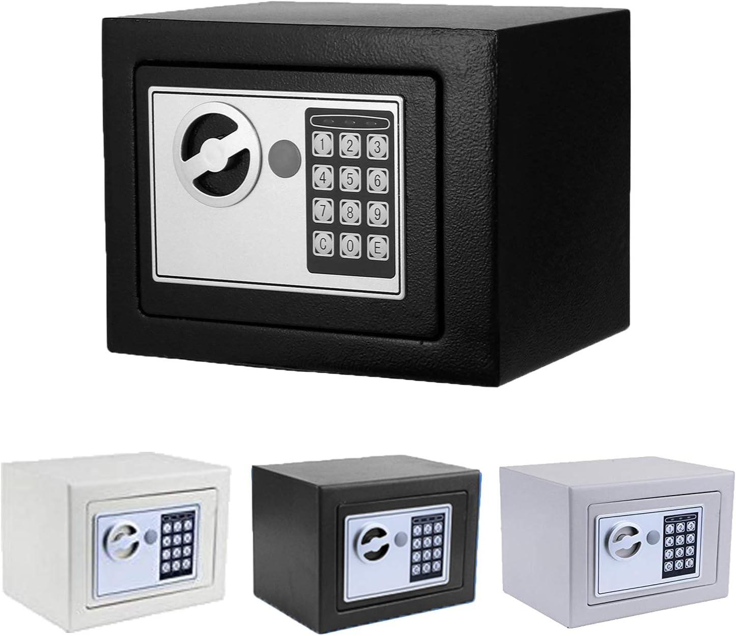 Caja de seguridad con cerradura ignífuga con bloqueo digital, anclaje de pared seguro para pistola de joyería y almacenamiento de dinero en efectivo: Amazon.es: Oficina y papelería