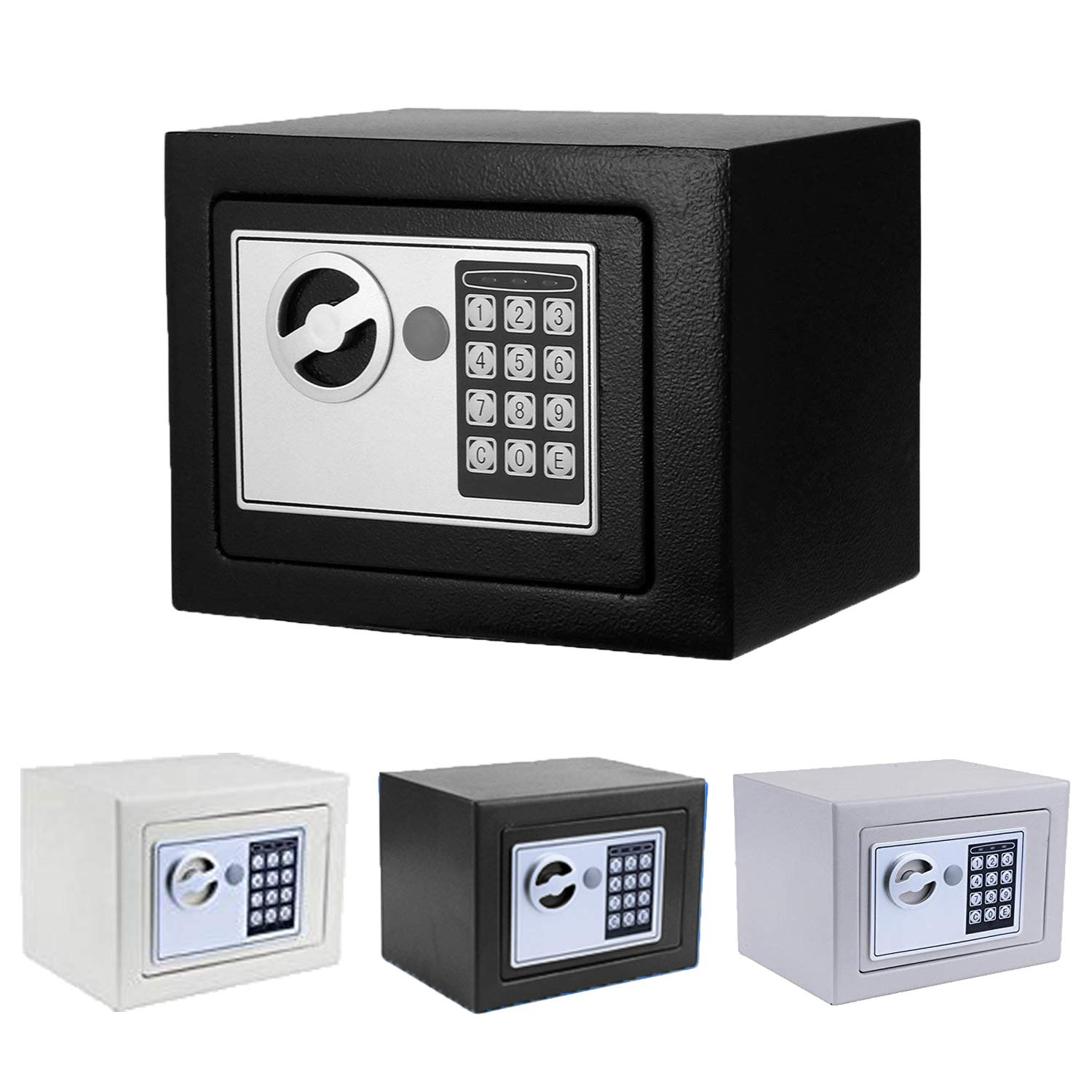 Security Safe, Fireproof Lock Box with Digital Lock Wall Safe for Jewelry Gun Cash Storage (Black.) by Binxin