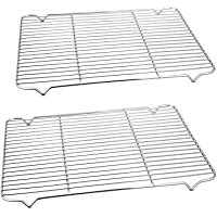 Baking Rack Cooking Rack Set of 2-16.6''x11.6'', P&P CHEF Stainless Steel Wire Cooling Drying Roasting Rack, Fits Half…