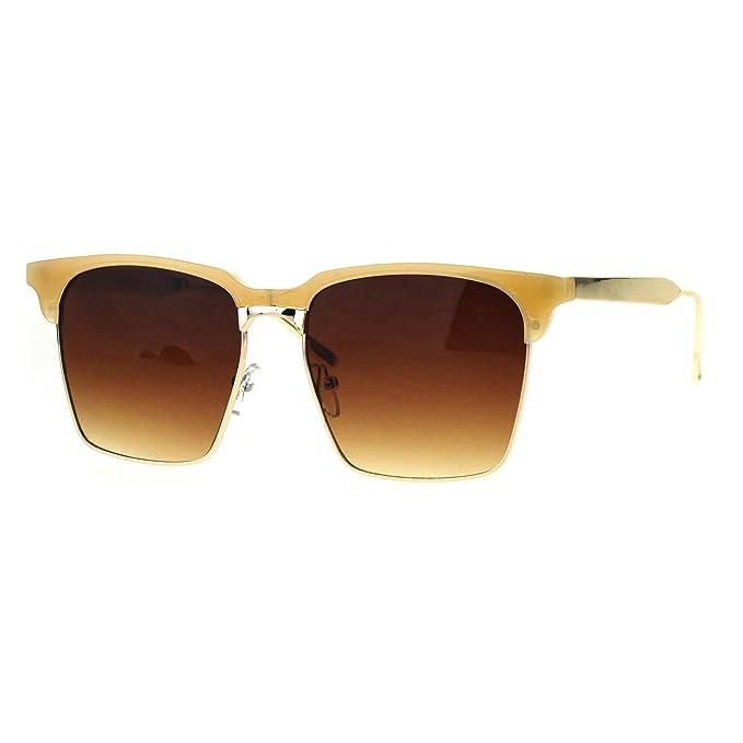 Amazon.com: pastl anteojos de sol de moda cuadrado cuerno ...