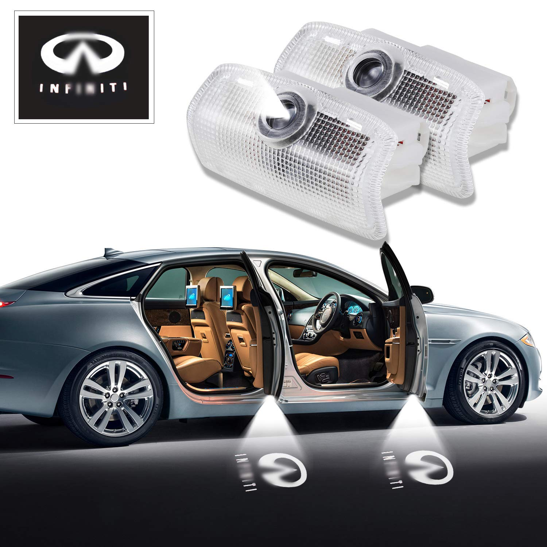 Infiniti LED Door Light 2 x Wireless No Drill Type Led Laser Door Shadow Light Welcome Projector Light Led Car Door Logo Ghost Shadow Emblems - 2 Pack