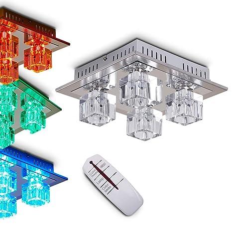 Lámpara led con cambio de color y mando a distancia