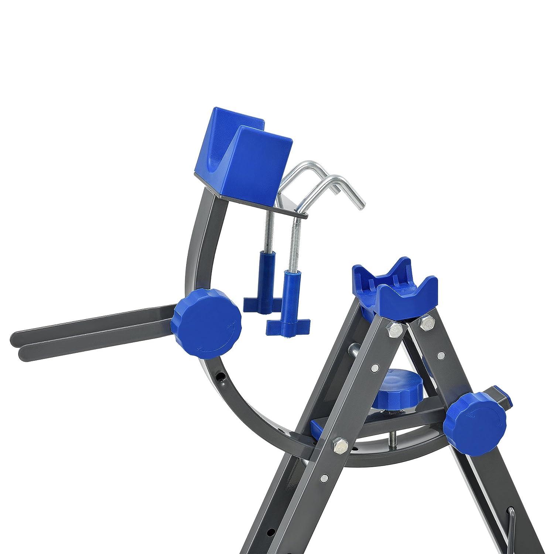 ae6c378d77071  pro.tec  Profi Fahrrad - Montageständer (dunkelgrau - blau)  Reparaturständer Winkel verstellbar  Amazon.de  Sport   Freizeit