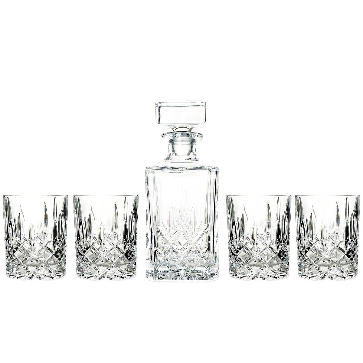 Marquis by Waterford Decanter and Set of Four Double Old Fashioned Glasses by Marquis by Waterford