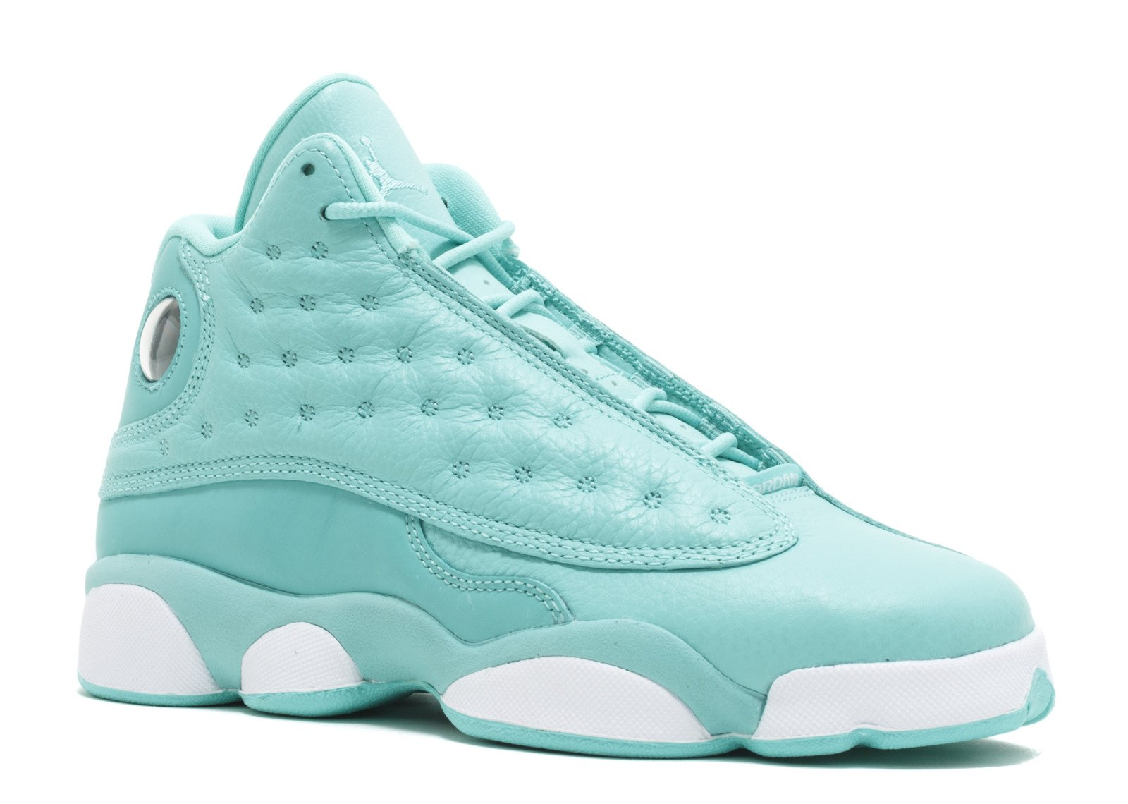 Jordan Kid's Air 13 Retro SNGL DY GG, HYPER TURQUOISE/WHITE, Youth Size 4 by NIKE