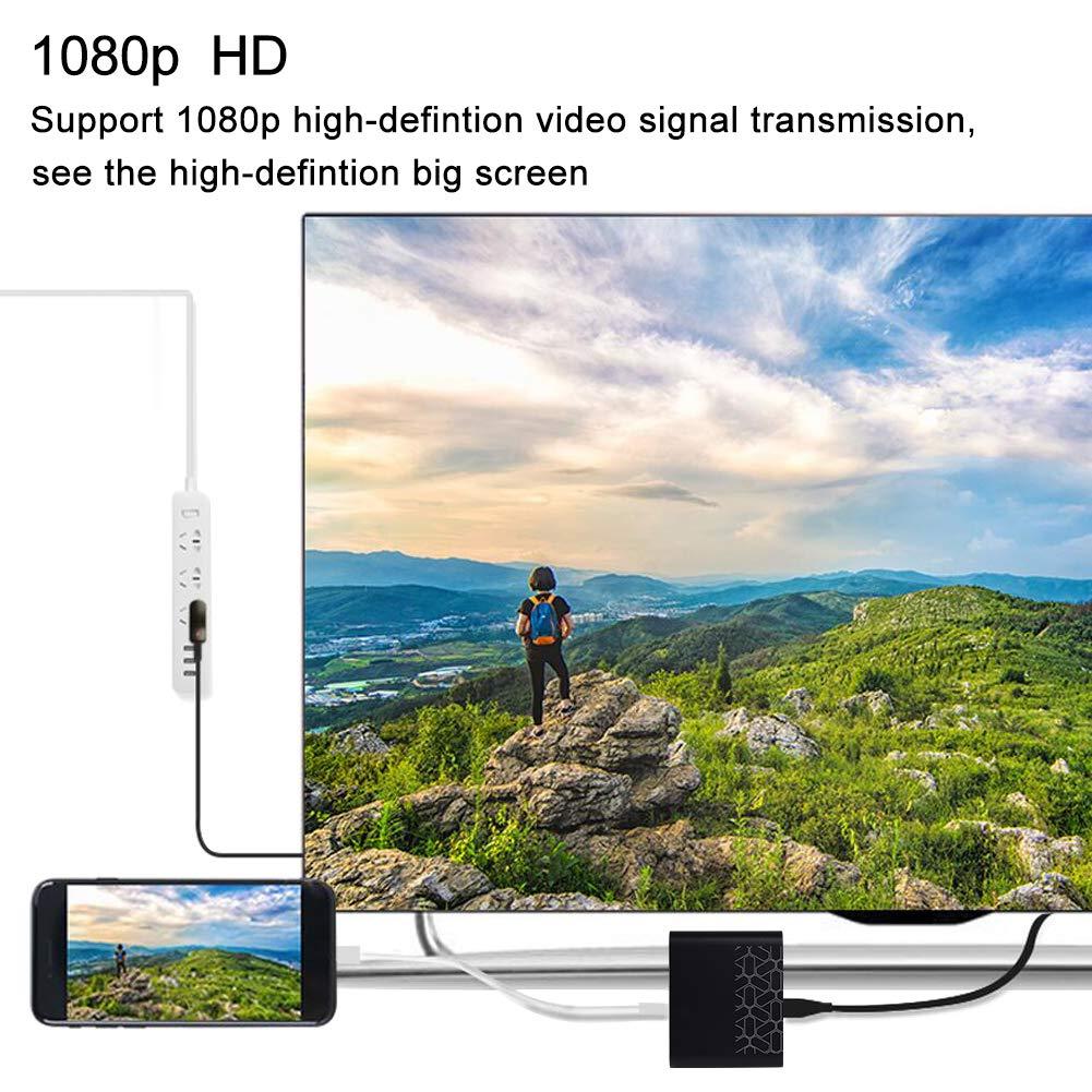 iMac Huawei P20//Mate 20 Pro USB auf VGA HDMI Adapter Snxiwth 3 in 1 USB Type C zu HDMI VGA Adapter HD Konverter Dual Display Multiports f/ür Apple MacBook Pro//Air Samsung S8//S9 Note8//9,Laptops usw