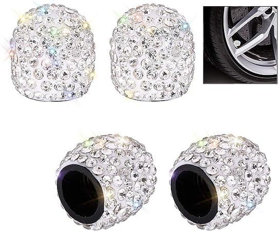 Cisixin 4 Stücke Kristall Diamant Ventilkappen Elektronik