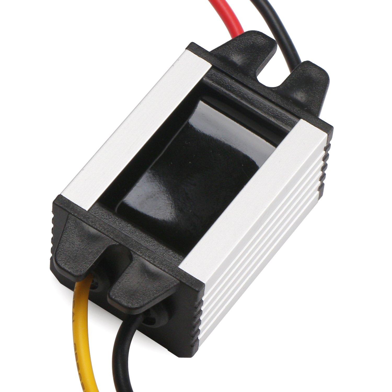 DROK Buck Voltage Reducer Converter 12V to 7.5V 3A/22W Step-down Power Module DC/DC Voltage Transformer Regulator Power Supply Board for LED Display Radio by DROK (Image #5)