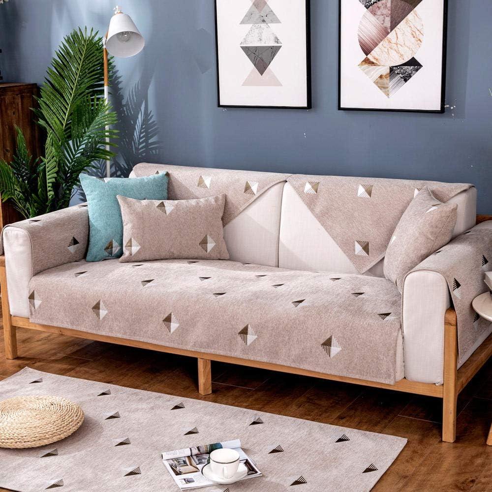 Suuki Fundas sofá,Cubierta De Muebles,Funda de sofá Moderna para Sala de Estar,Funda de sofá de Chenilla de Oficina Funda de Deslizamiento Antideslizante Beige_90 * 160cm-Vendido por Pieza