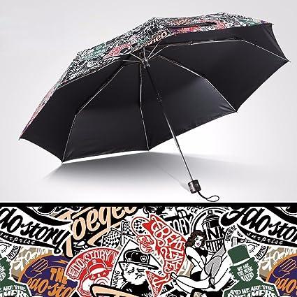 SSBY Vinilo PARAGUAS paraguas plegable paraguas creativo-UV ...