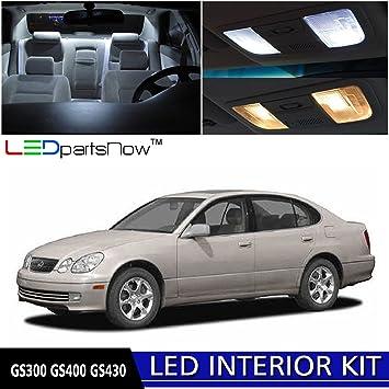 LEDpartsNow 1998 2005 Lexus GS300 GS400 GS430 LED Interior Lights  Accessories Replacement Package Kit (