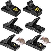 Mouse Traps Professional Mice Trap Blow Trap, 6 Pack Mouse Killer, Mouse Catcher,Efficient, Quick Killing, Can be Reused…