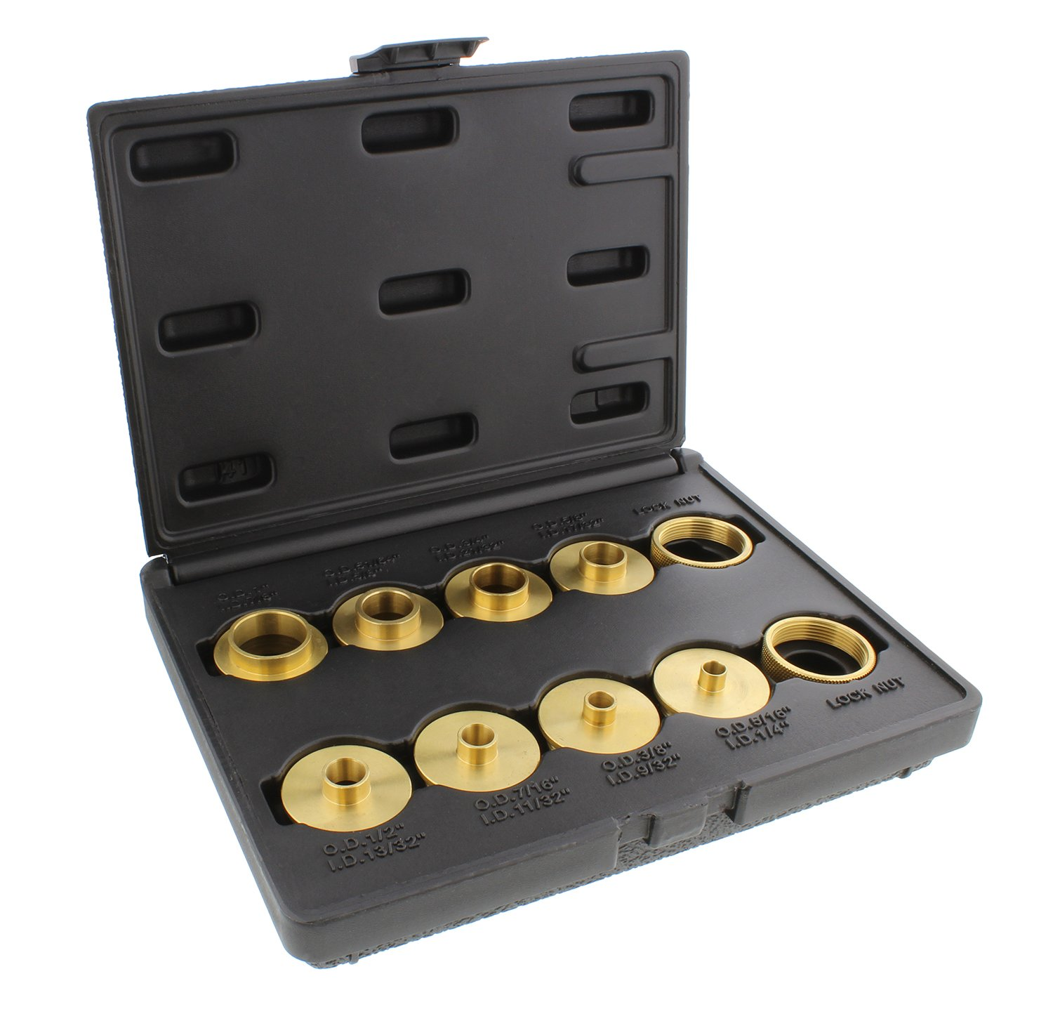 dct brass router template guides bushing 8 piece set 2 bonus lock