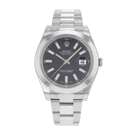 NUEVO Rolex Datejust II Acero Inoxidable Black Sticks Oyster Reloj para hombre 116300 bkio
