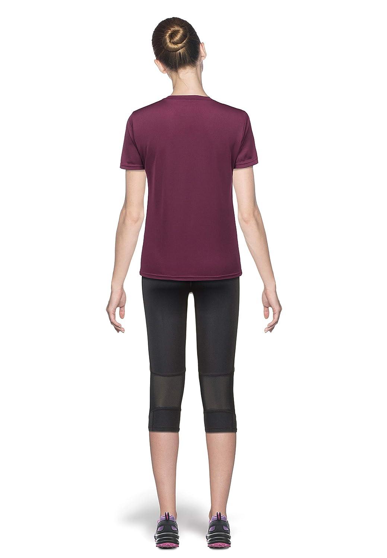 Sport Gym Wandern Training Kurzarm Shirt T-Shirt f/ür Fitness Yoga Workout Endurance Vista Damen Funktionsshirt Outdoor