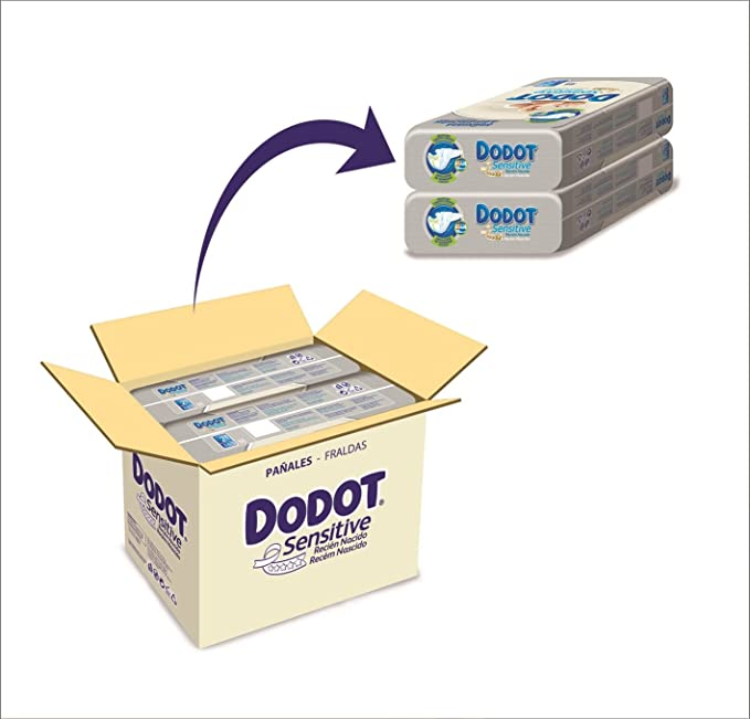 Dodot Sensitive - Pañales, talla 2, 3-6 kg, 132 unidades: Amazon.es: Amazon Pantry