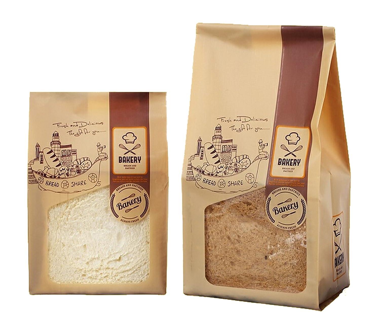 Amazon.com: 30 unidades Plástico Pan tostadas bolsa Kraft ...
